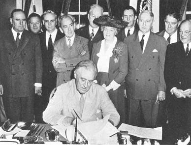 President Franklin Roosevelt Signs the GI Bill of Rights, 1944