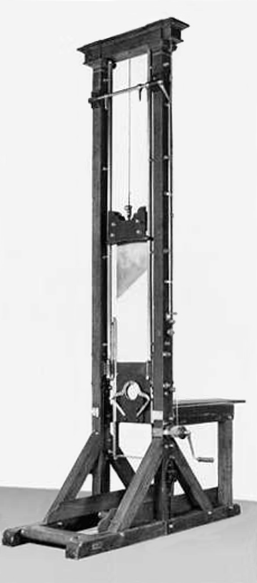the guillotine, tool of the French Revolution