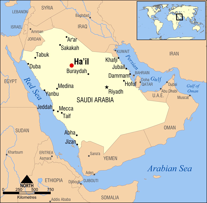 File Ha Il Saudi Arabia Locator Map Png Wikimedia Commons