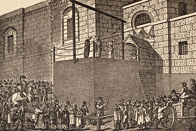 Hangin outside Newgate Prison