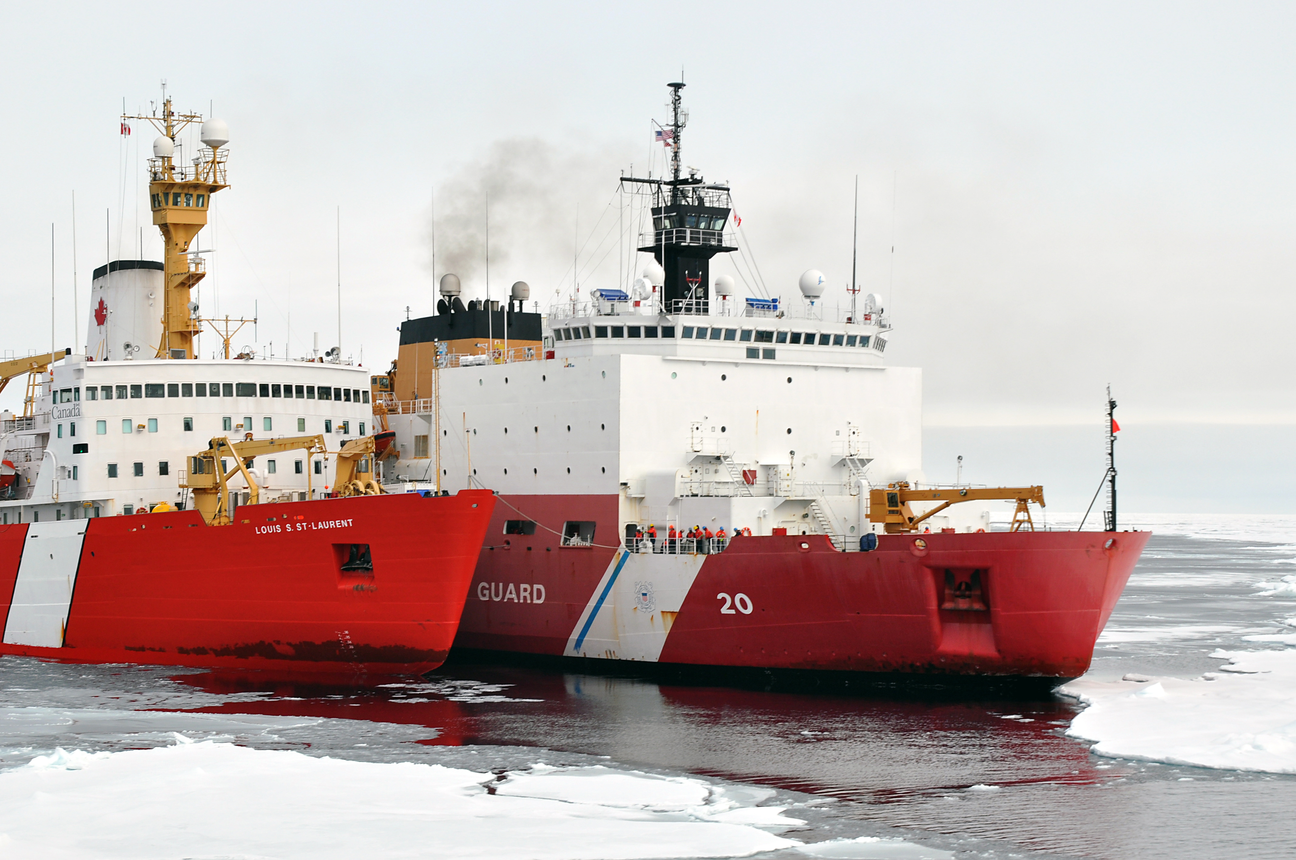 File Icebreakers Louis S St Laurent And Healy In The
