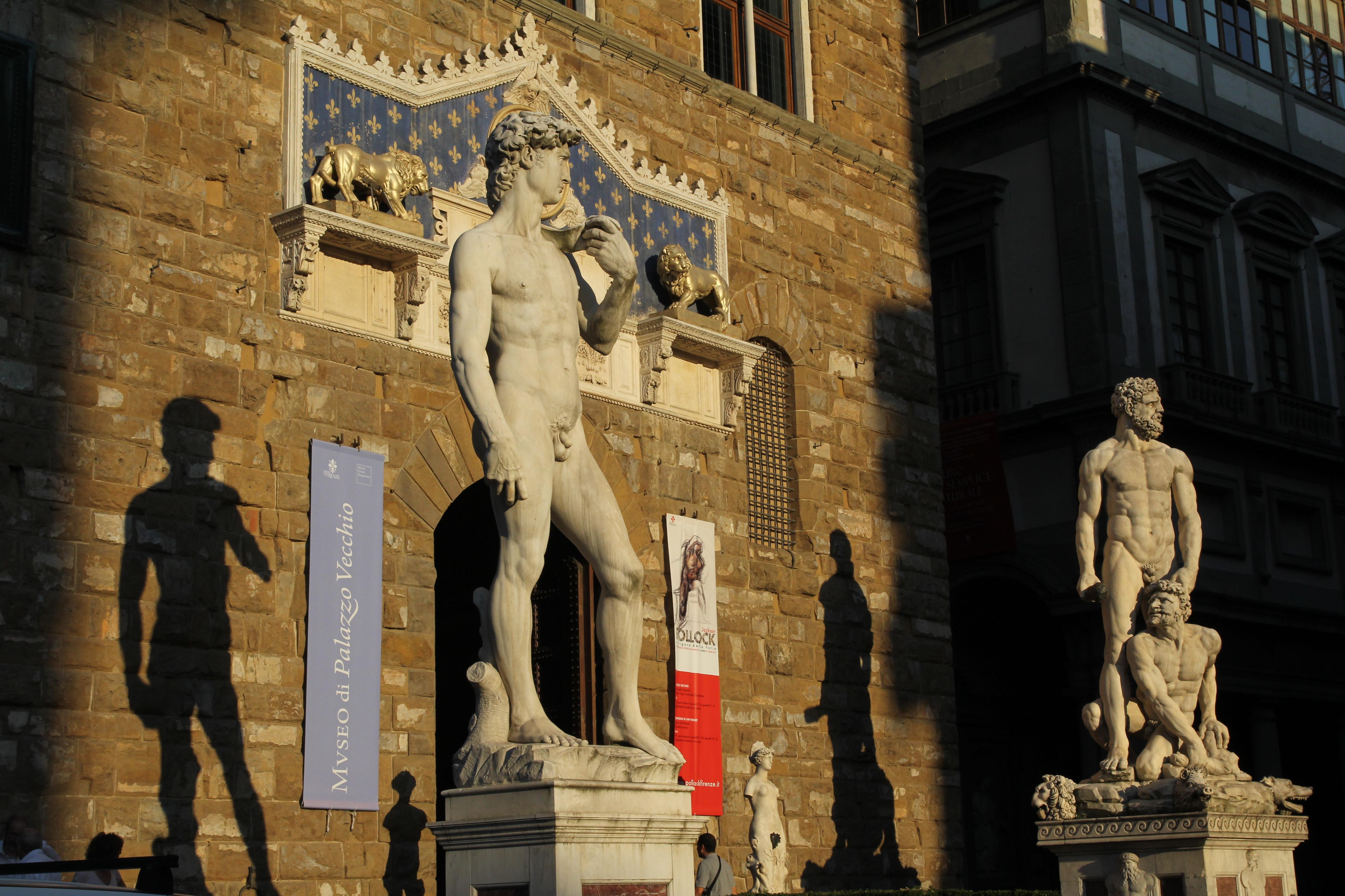 Michelangelo, David (replica), Piazza della Signoria, Firenze