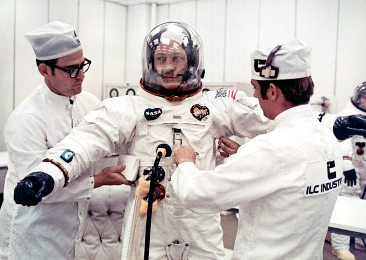 Jack Swigert suits-up
