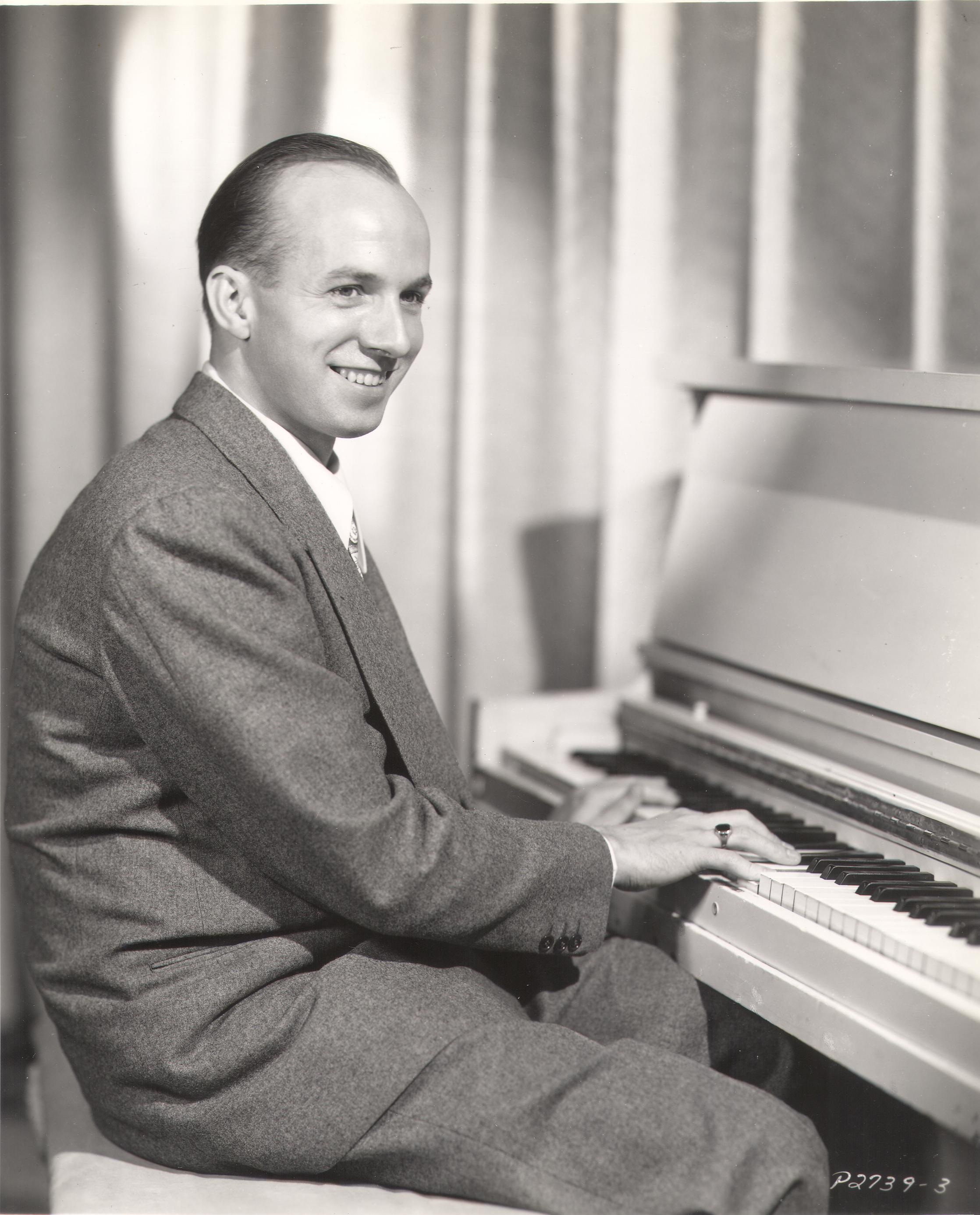 Jimmy Van Heusen playing the piano