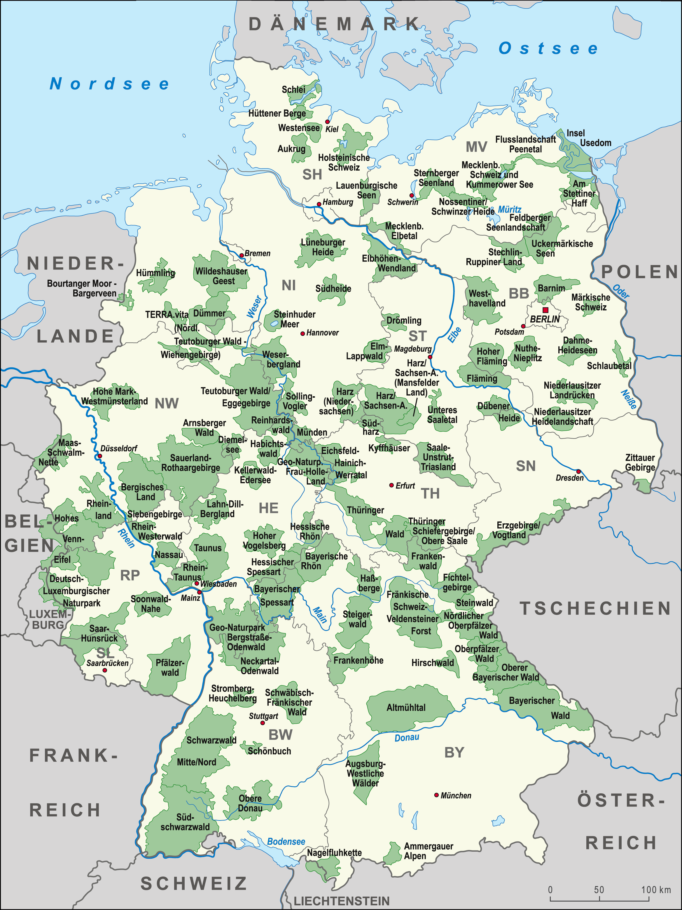 map of the national parks in germany 2341x3122 mapporn. Black Bedroom Furniture Sets. Home Design Ideas