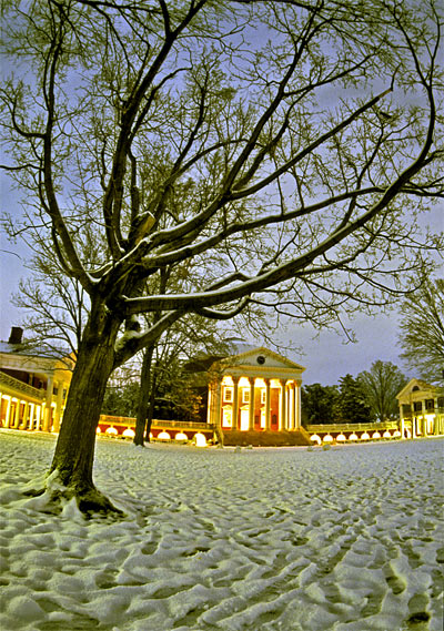 UVA Grounds in Winter
