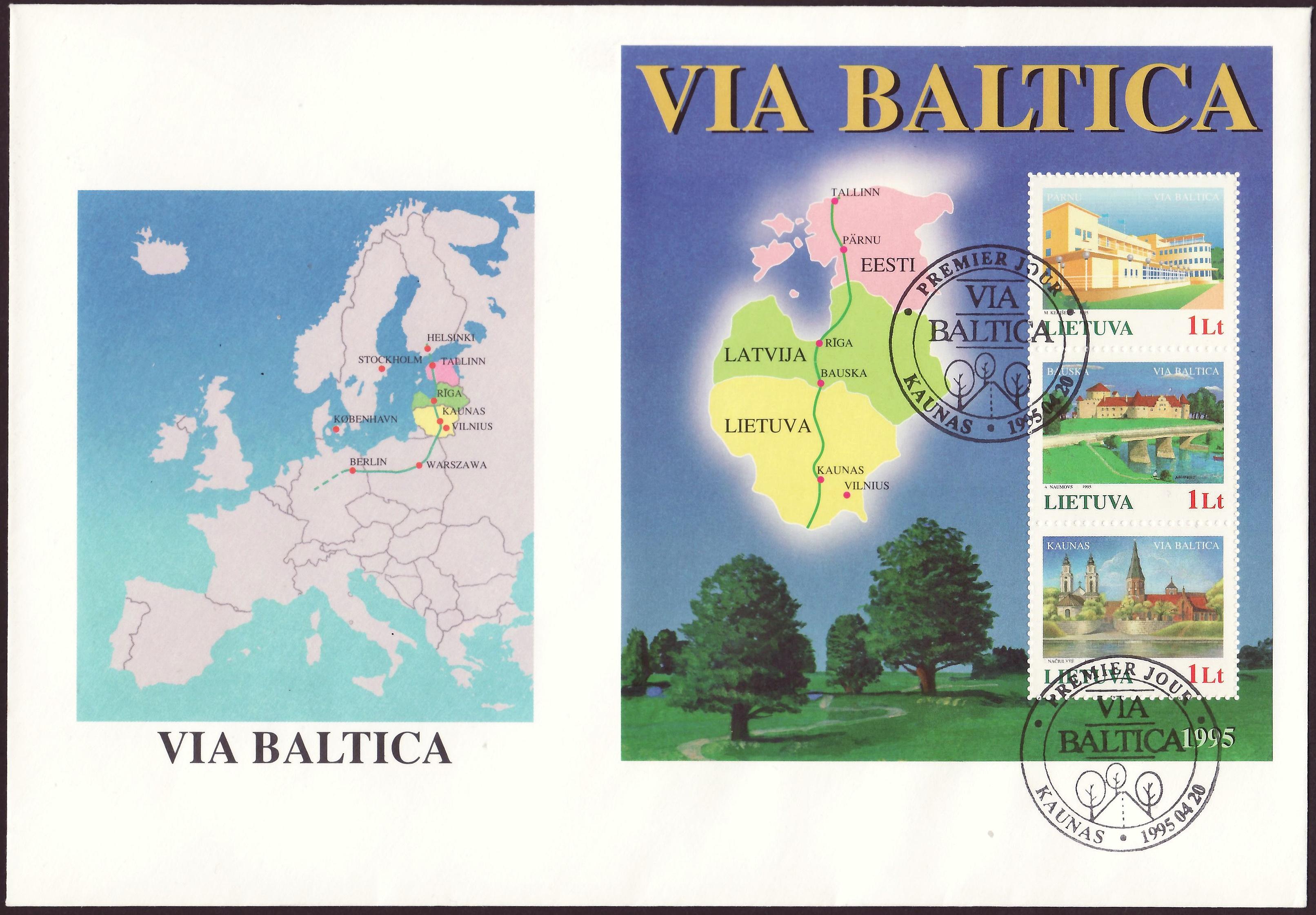 Block 6 Fdc Estland Briefmarken Estland