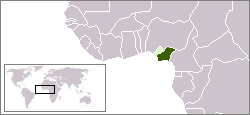 Map of Biafra inside Nigeria