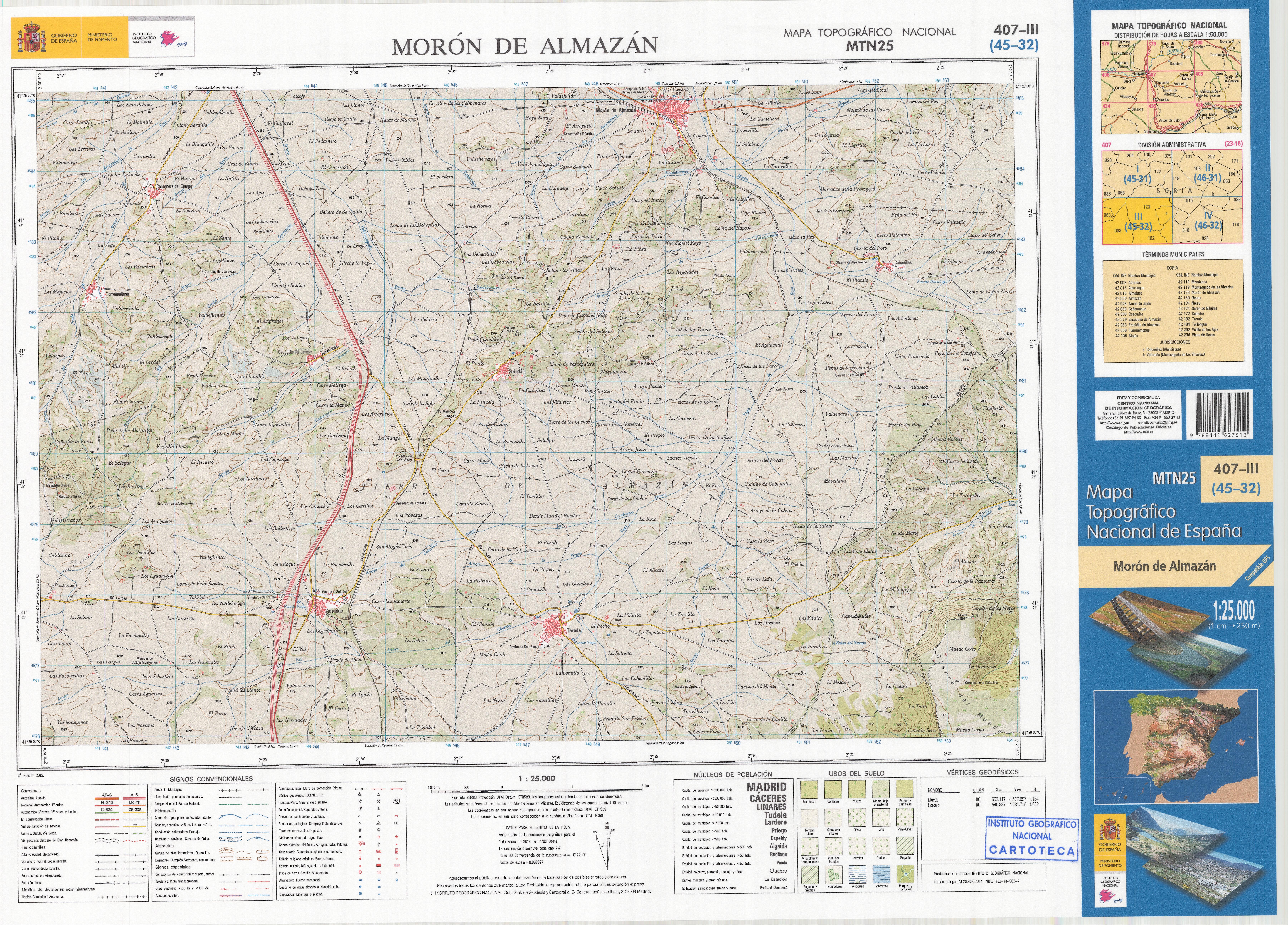 Moron Spain Map.File Mtn25 0407c3 2013 Moron De Almazan Jpg Wikimedia Commons