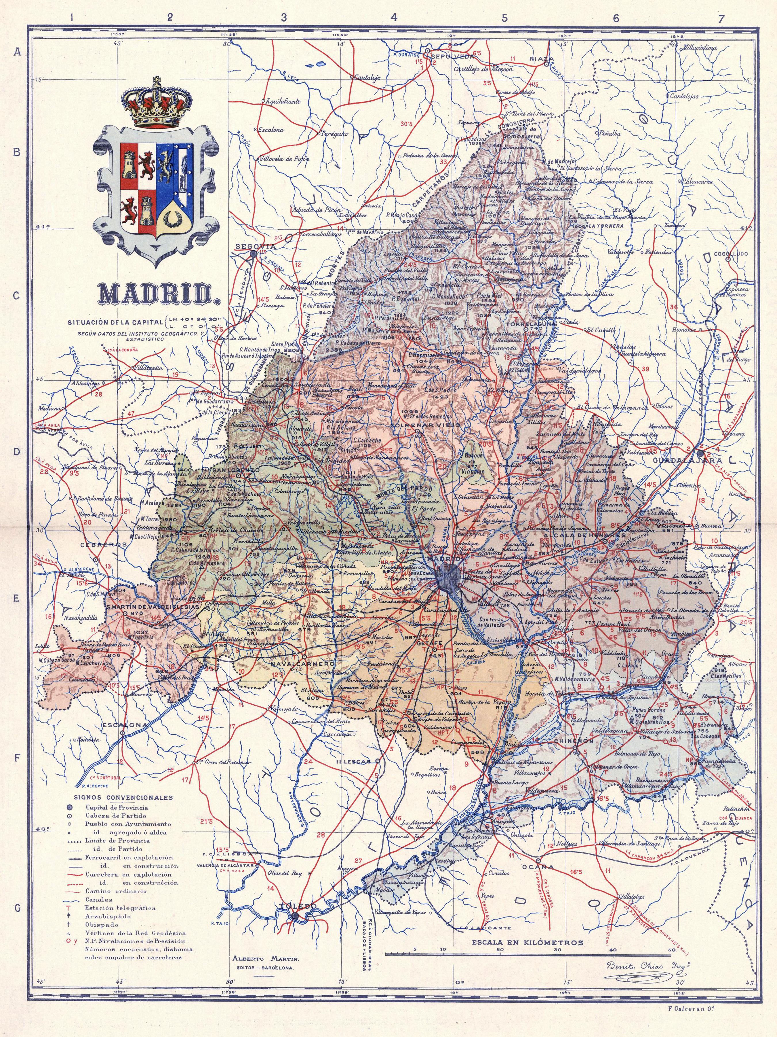 File Madrid Mapa 1919 Jpg Wikimedia Commons
