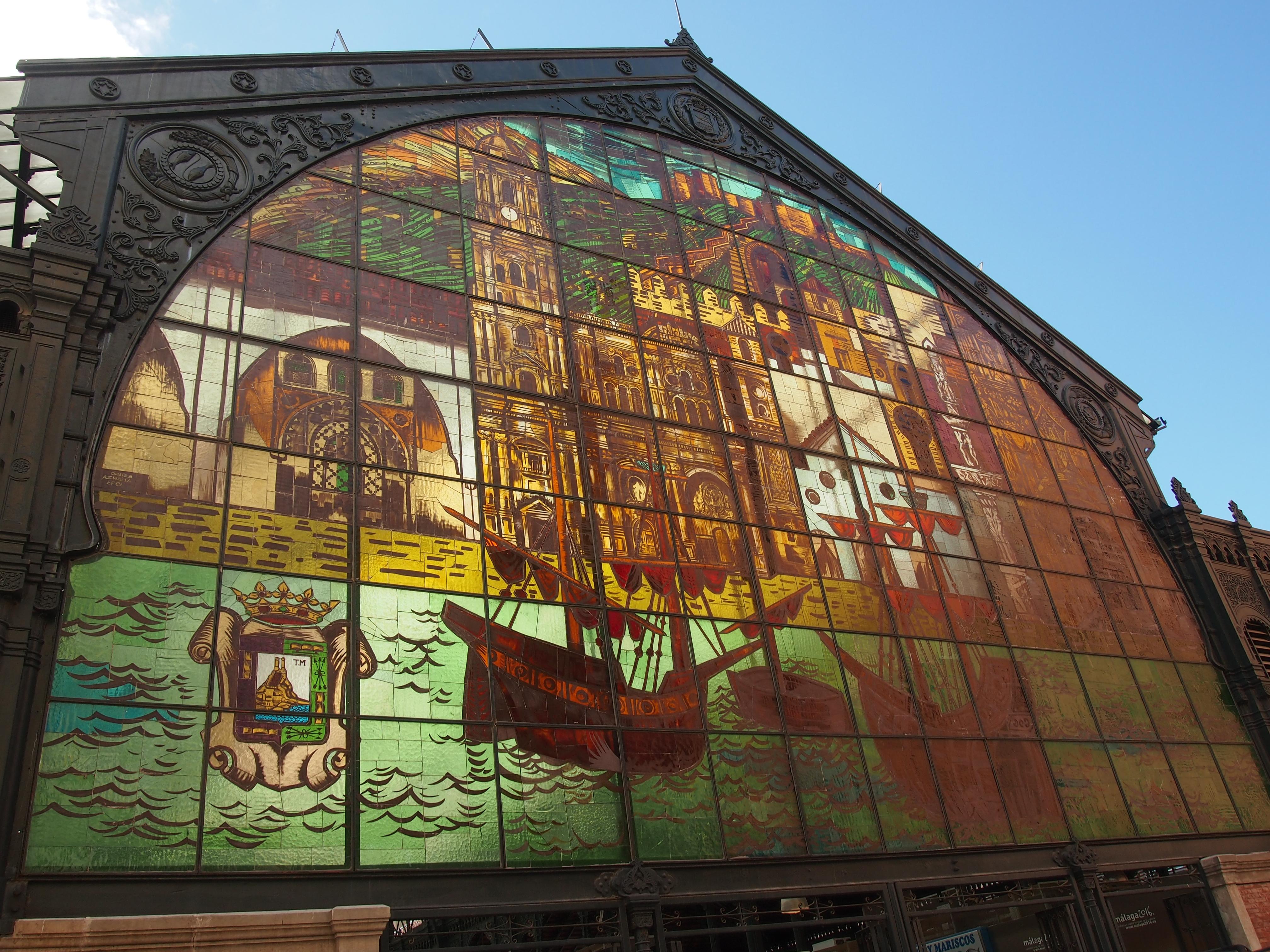 File:Malaga Central Market (Mercado Central de Atarazanas).JPG - Wikimedia Co...