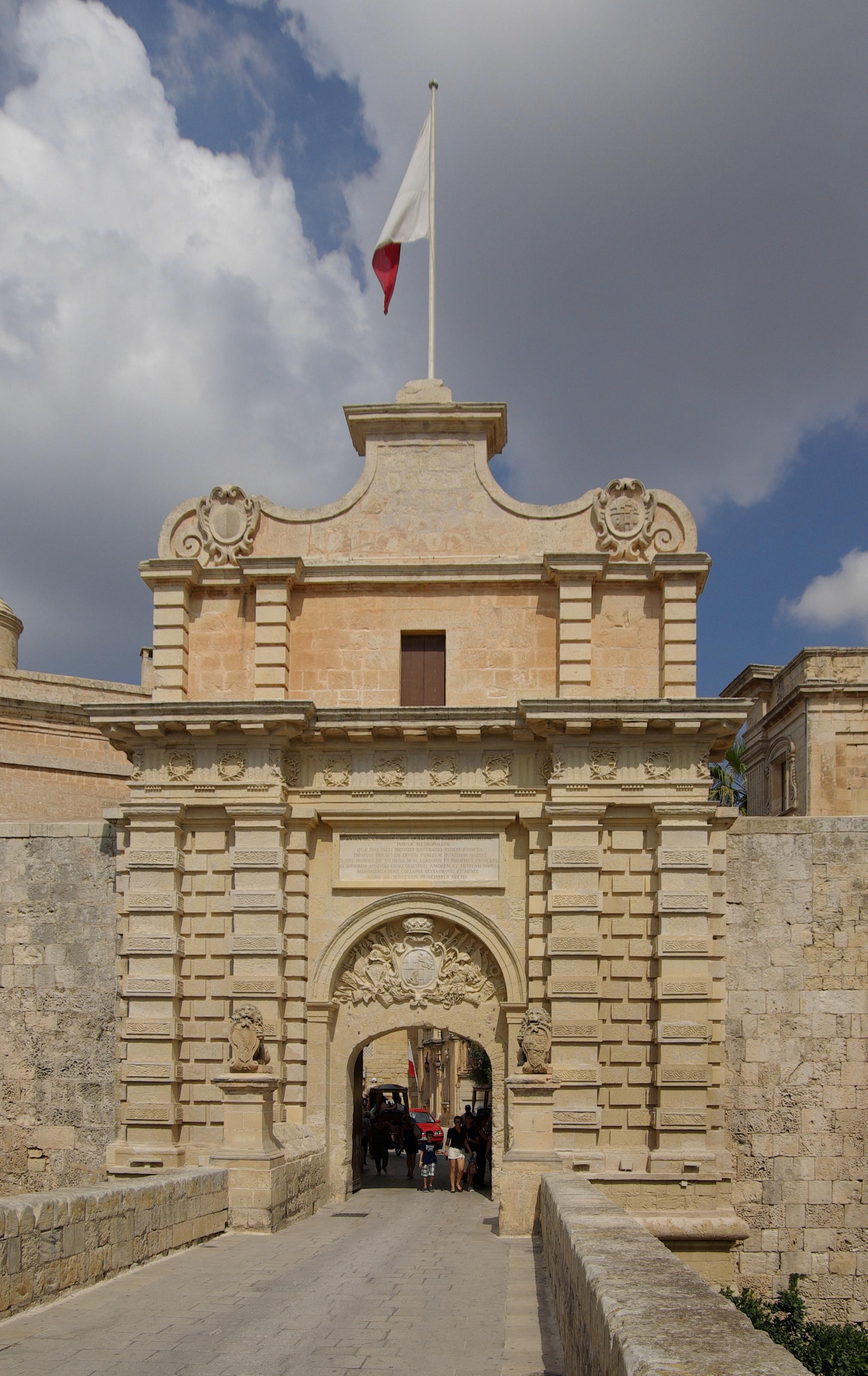 Image result for Images of mdina gate