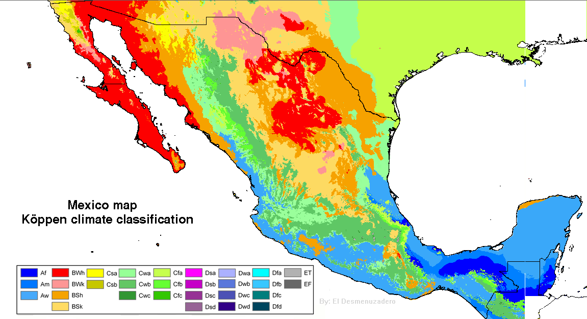 Climate Of Mexico Wikipedia - Mexico climate map