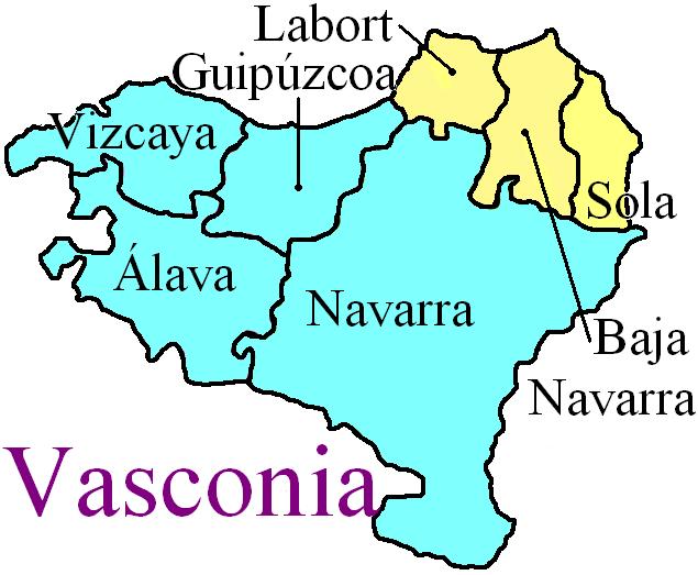 Mapa Pais Vasco Frances.File Mapa De Vasconia Svg Png Wikimedia Commons