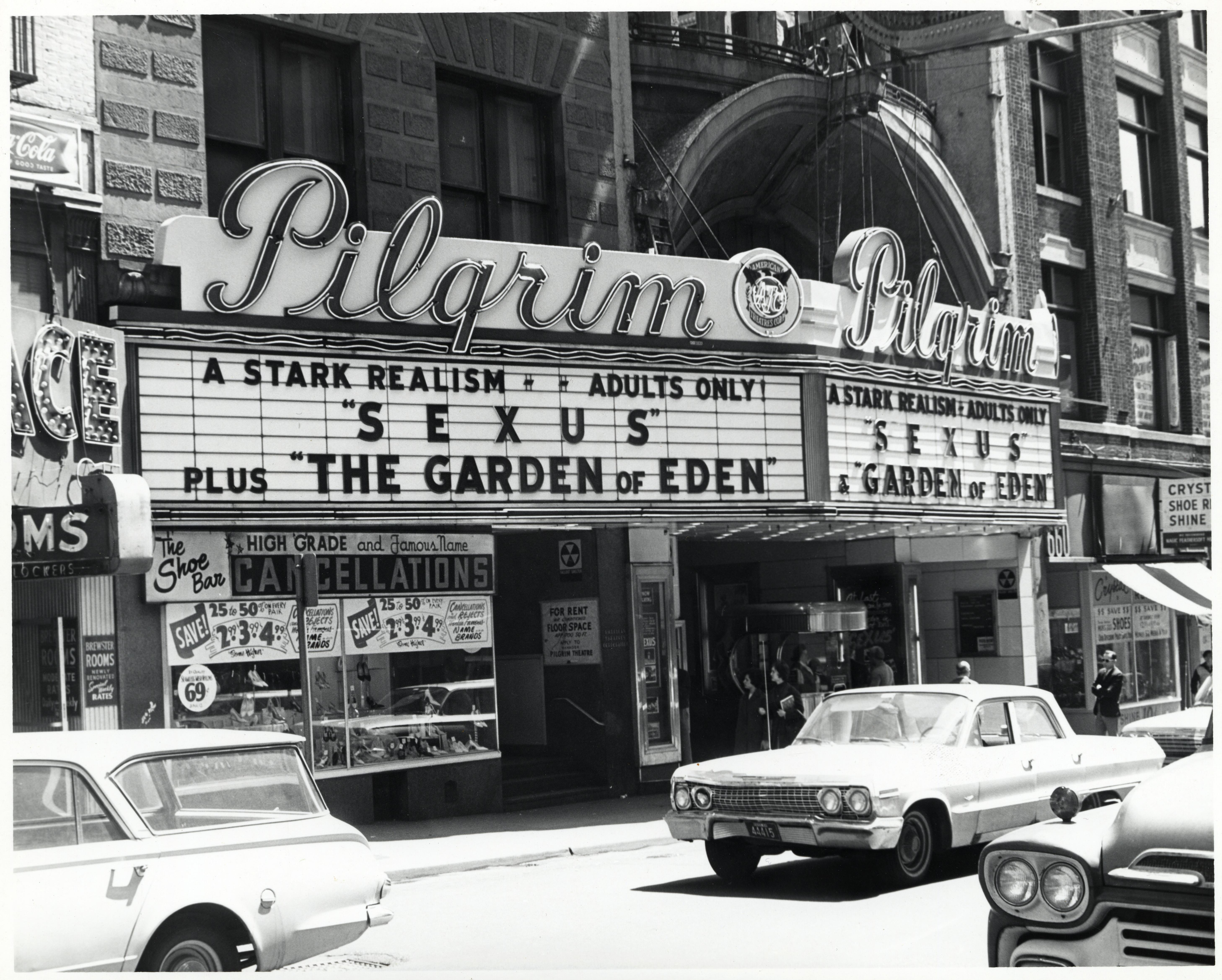 filemarquee at pilgrim theatre on washington street