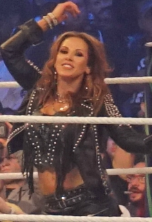 Mickie James WrestleMania 32 April 2018.jpg