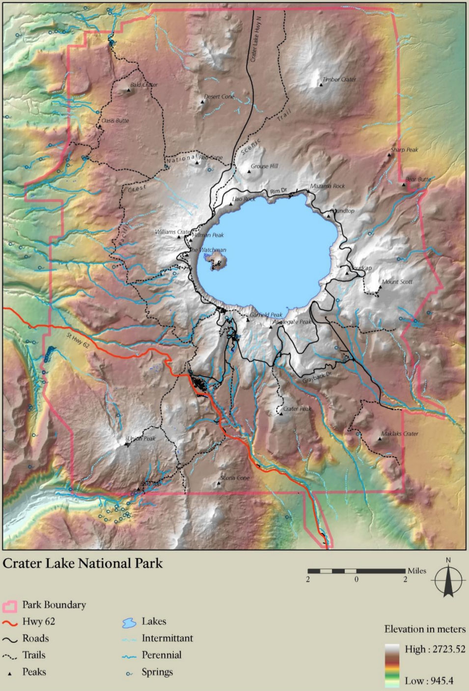 FileNPS Craterlakeelevationmapjpg Wikimedia Commons - Lake contour maps free