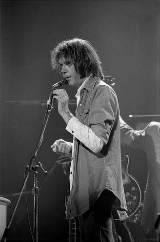 Neil Young en Austin (Texas) el 9 de noviembre de 1976.