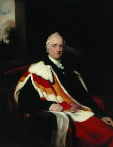 Portrait, oil on canvas, of Lord Bexley by [[Thomas Lawrence|Sir Thomas Lawrence]].