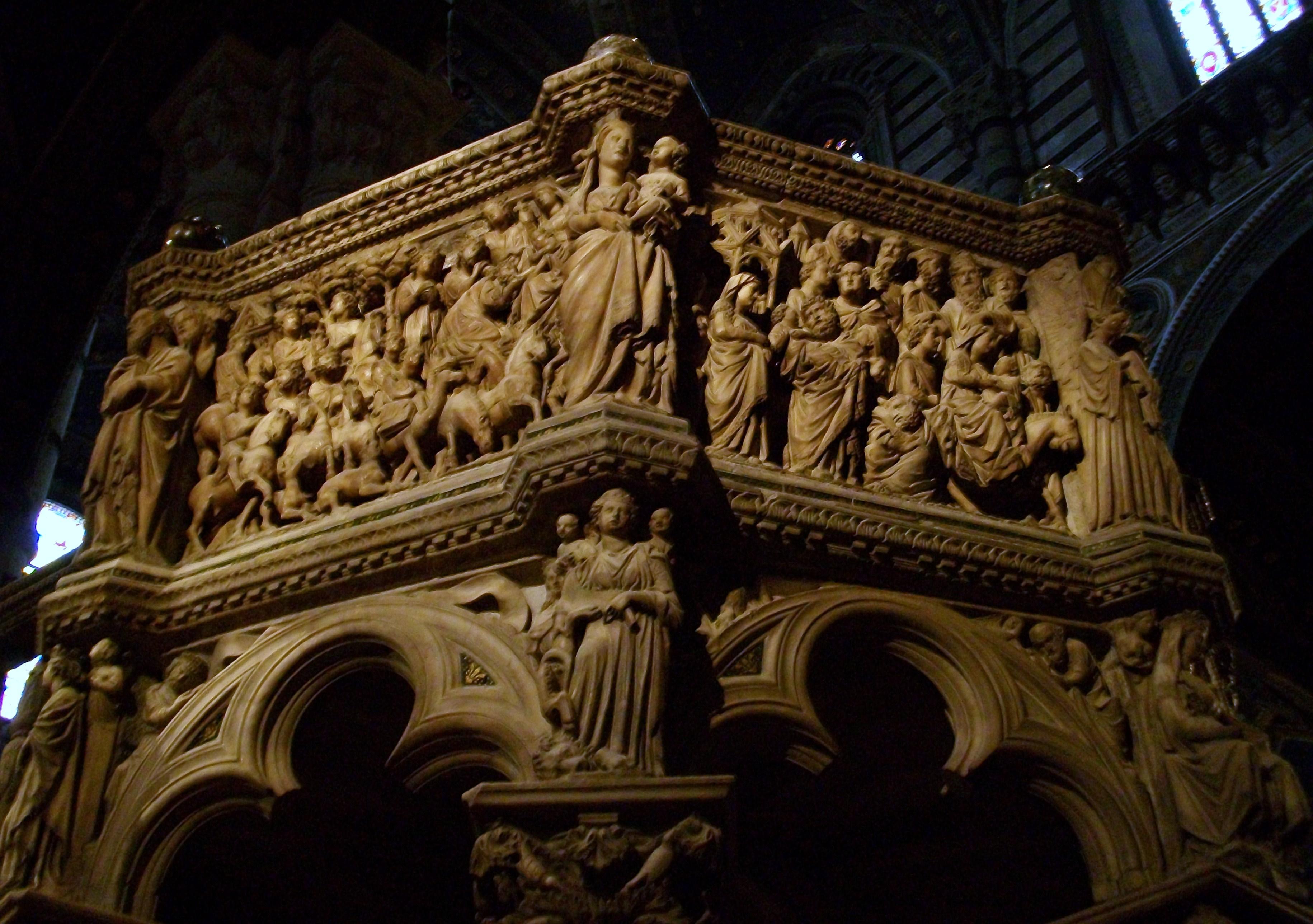 Nicola Pisano Nicola_Pisano,_p%C3%BAlpit_de_la_catedral_de_Siena