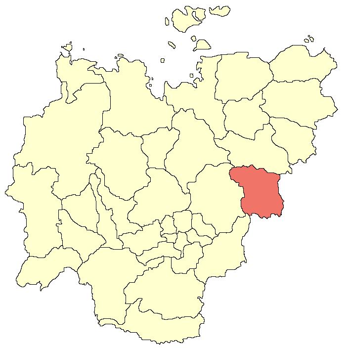 Оймяконский улус (район) на карте