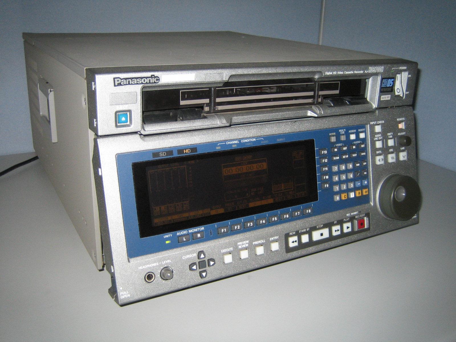 1995 Panasonic D5 Digital VTR, model AJ-HD3700H