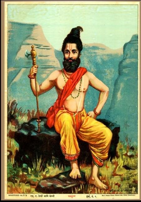 Parashurama with axe.jpg
