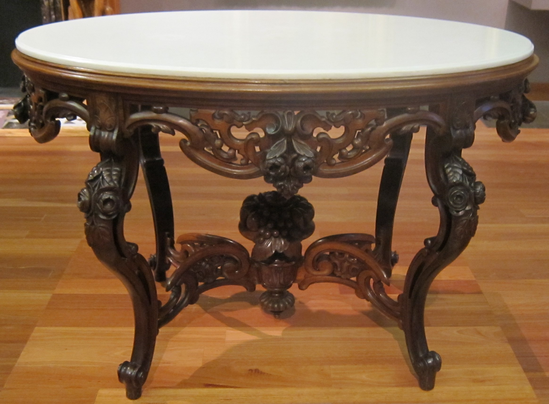 File parlor table made by joseph meeks and sons c 1860 for Table design history