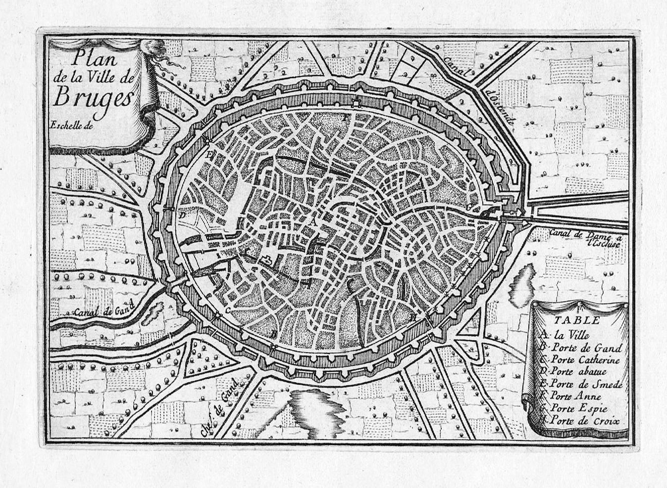Plan Ville Bruges Belgique