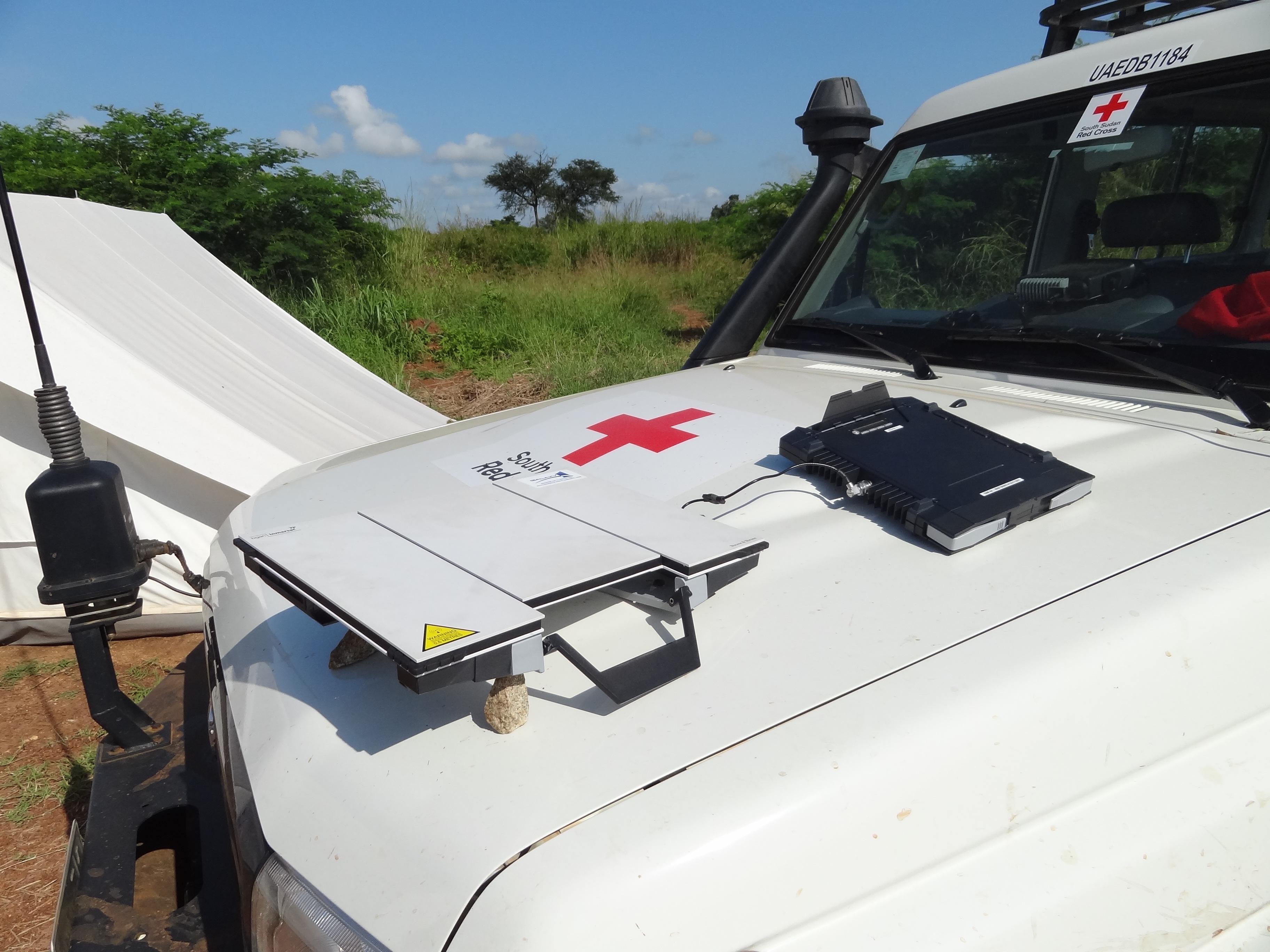 File:Portable Satellite Internet Modem and Antenna jpg