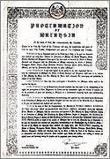 Proclamation of Malaysia in English