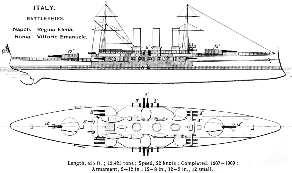 italian battleship roma  1907