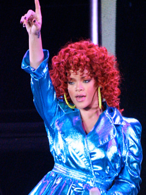 English: Rihanna Live at Target Center on her ...