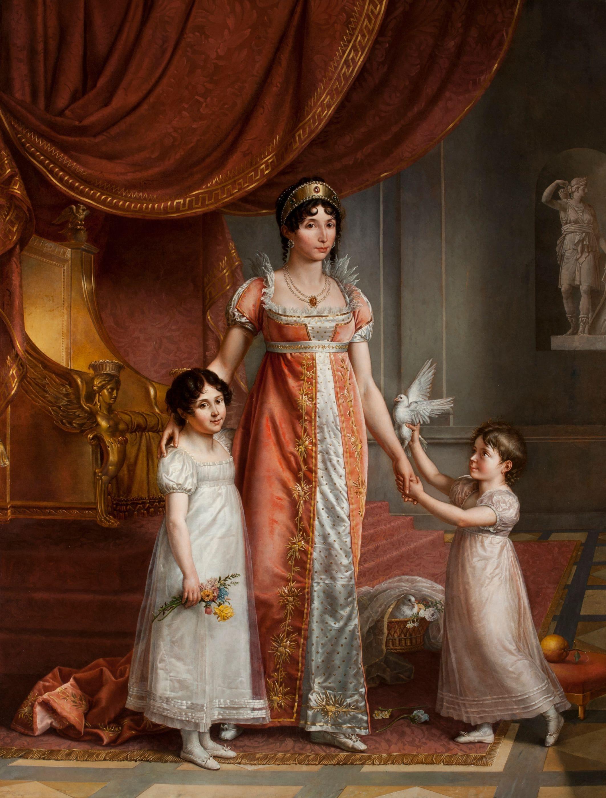 Ritratto di Giulia Clary e delle figlie Zenaide e Carlotta (Jean-Baptiste Wicar).jpg