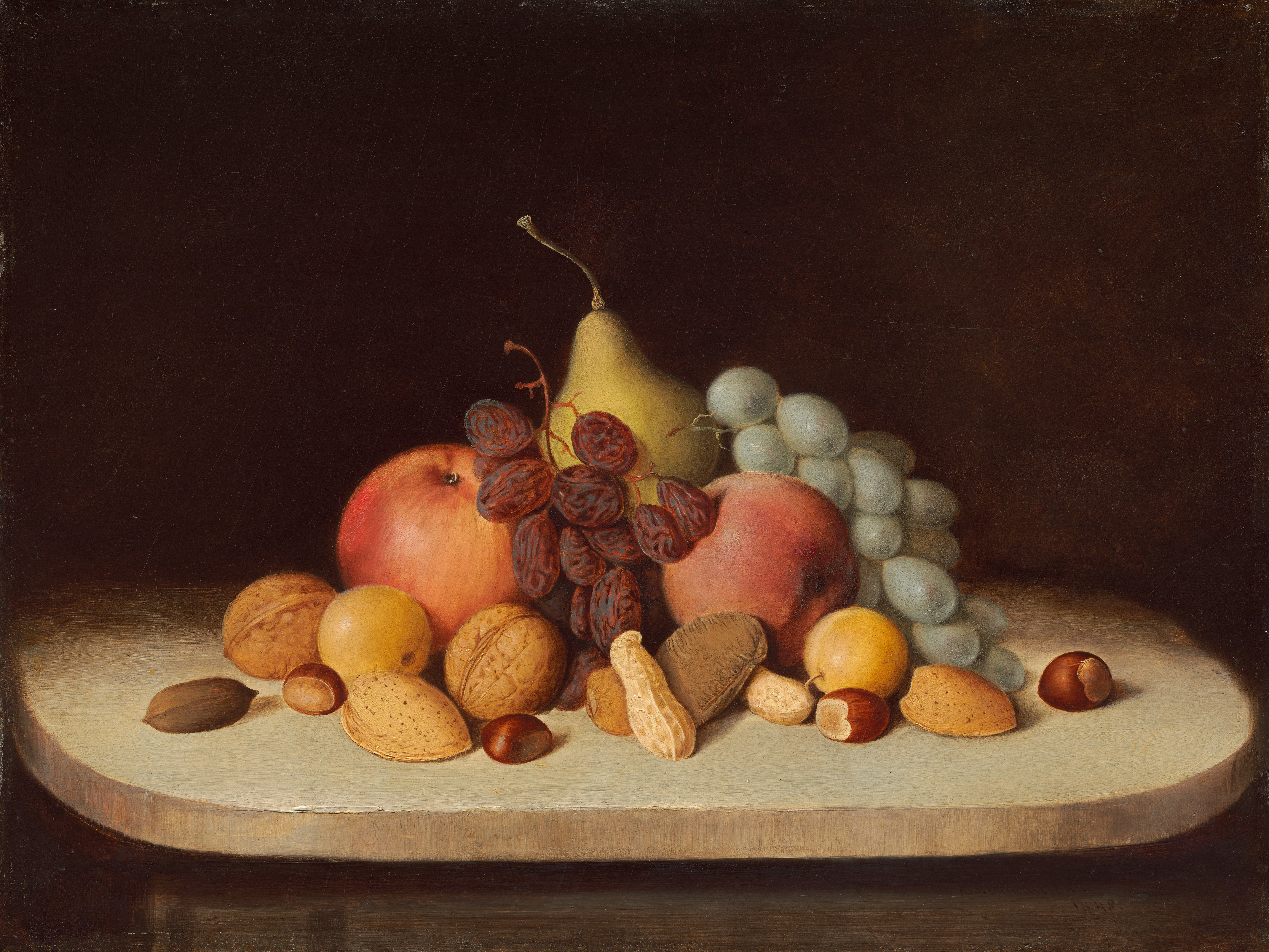 File:Robert Seldon Duncanson - Still Life with Fruit and ...