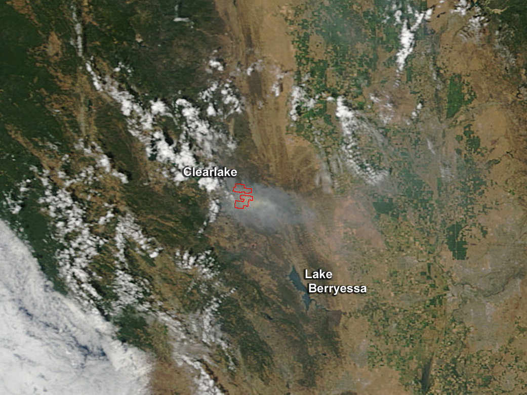Fires California Map >> Rocky Fire - Wikipedia
