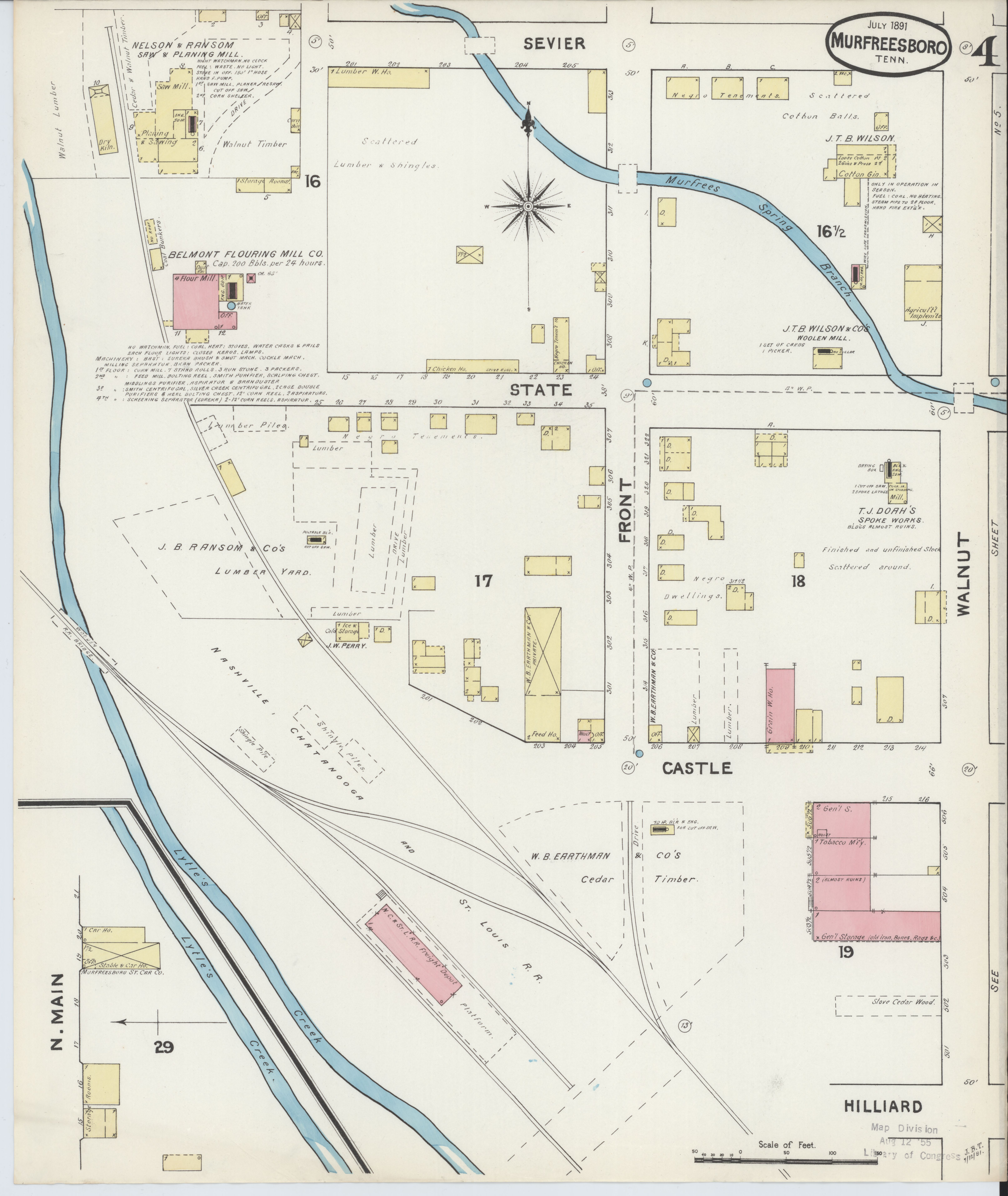 File Sanborn Fire Insurance Map From Murfreesboro Rutherford County