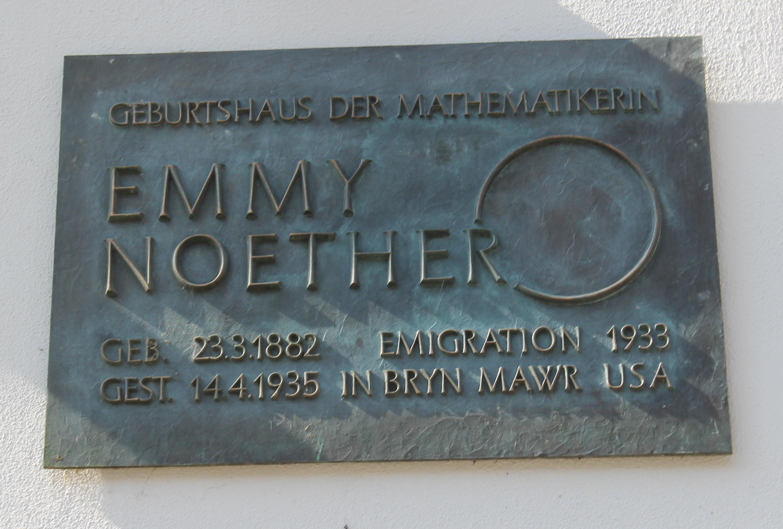 File:Schild, Geburtshaus Emmy Noether - Hauptstraße 23 ... Emmy Noether