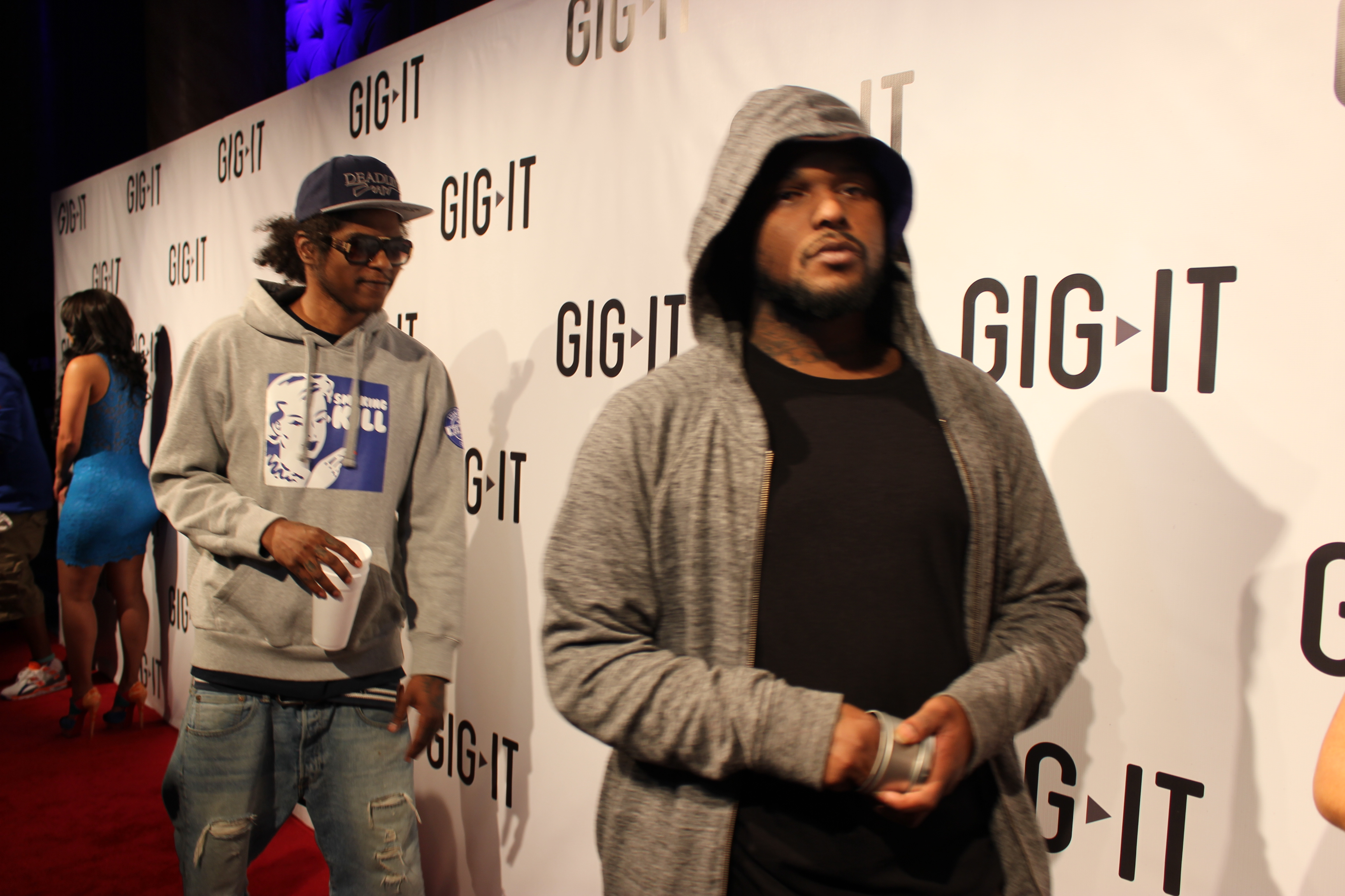 Black Hippy members Ab-Soul (left) and Schoolboy Q in April 2012.