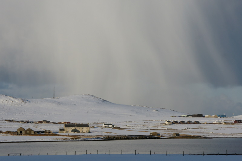 File:Snow shower over Buness and Muckle Heog - geograph.org.uk - 1725727.jpg