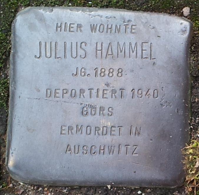 Stolperstein Julius Hammel Offenburg.jpg