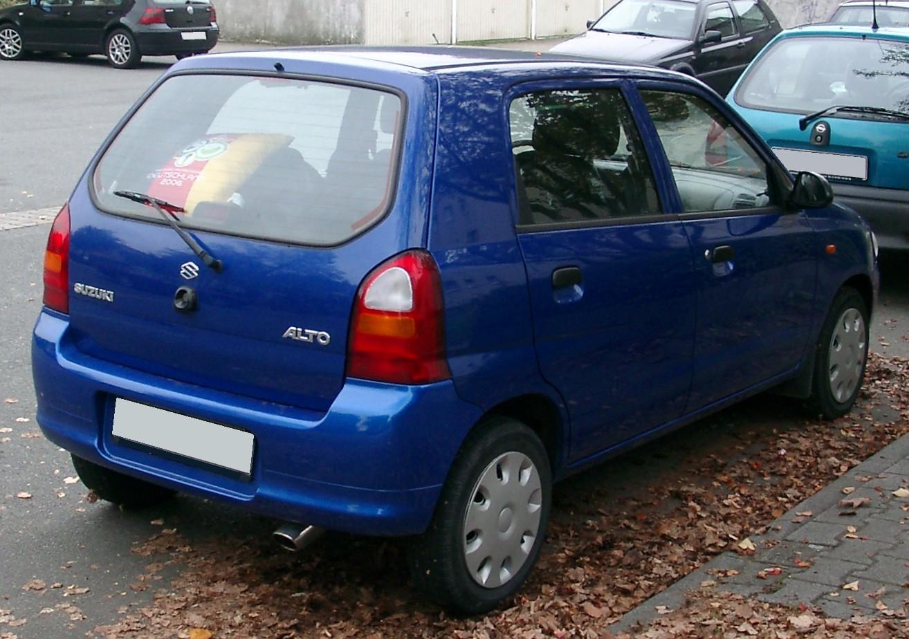 File Suzuki Alto Rear 20071002 Jpg Wikimedia Commons