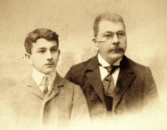 Armen Takhtajan's father (left) and grandfather (right), appr. 1900