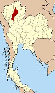 Map of Thailand highlighting Lampang Province}