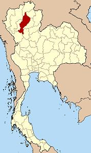 ラムパーン県の位置