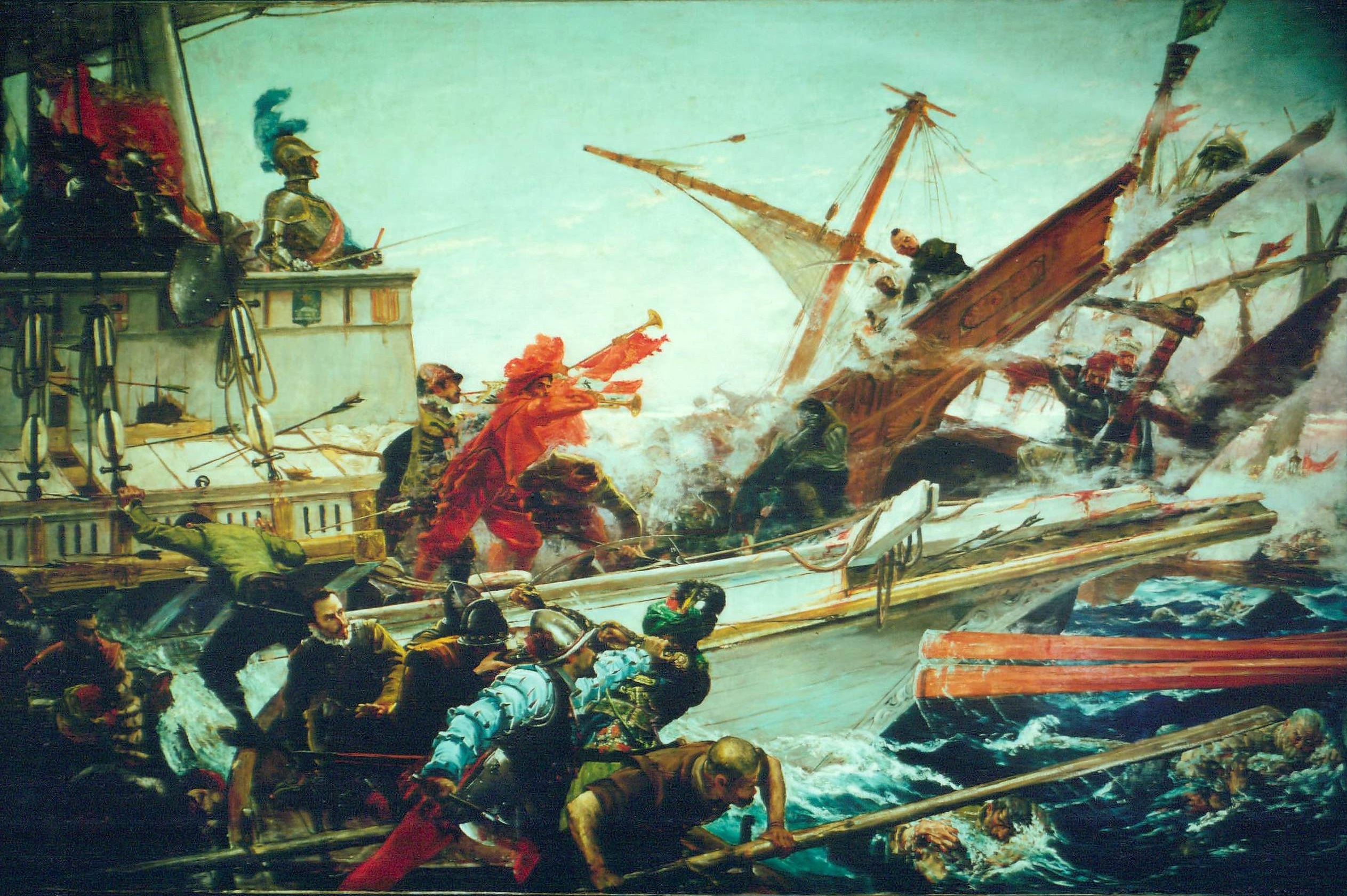 File The Battle of Lepanto of 1571 full version by Juan Luna on manila location map