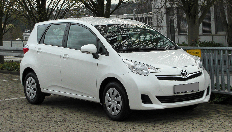 Toyota Corolla Size >> File:Toyota Verso-S 1.33 VVT-i Life – Frontansicht (2), 31 ...