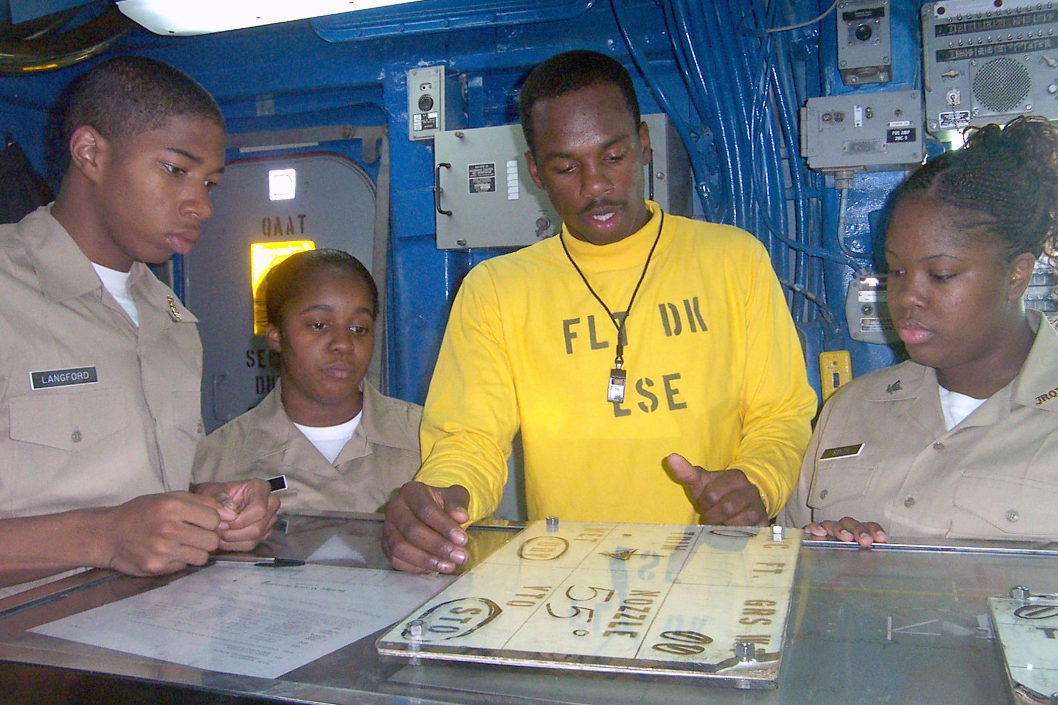 File:US Navy 021024-N-5422R-001 Airman demonstrates to Naval Junior