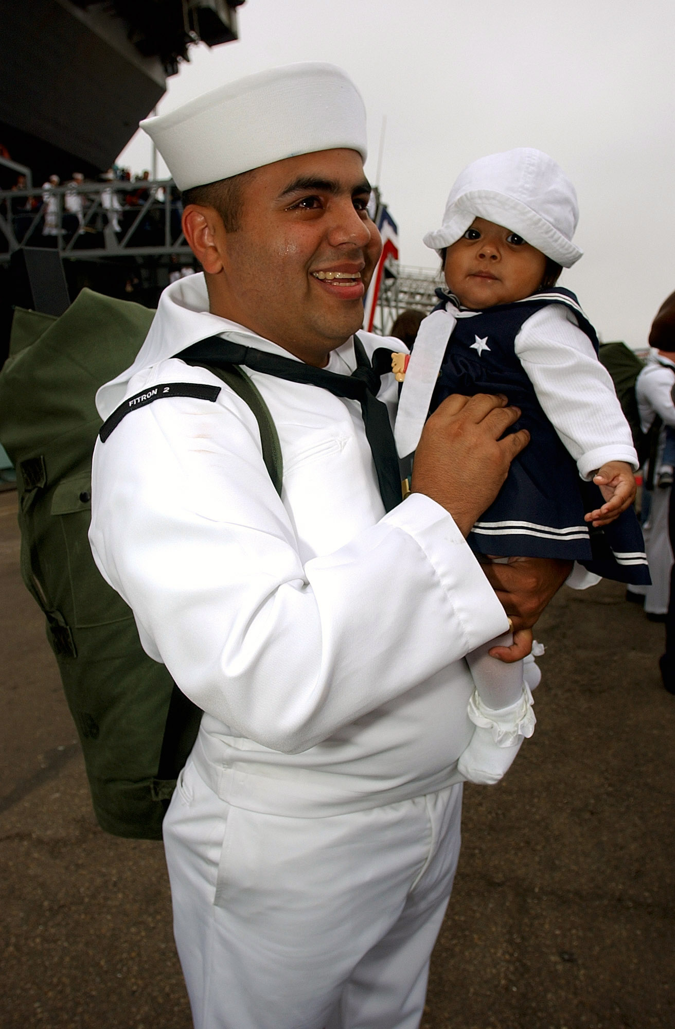file us navy n b aviation maintenance file us navy 030602 n 3236b 007 aviation maintenance administrationman 2nd class jose riojas holds his six month old daughter as family and friends of