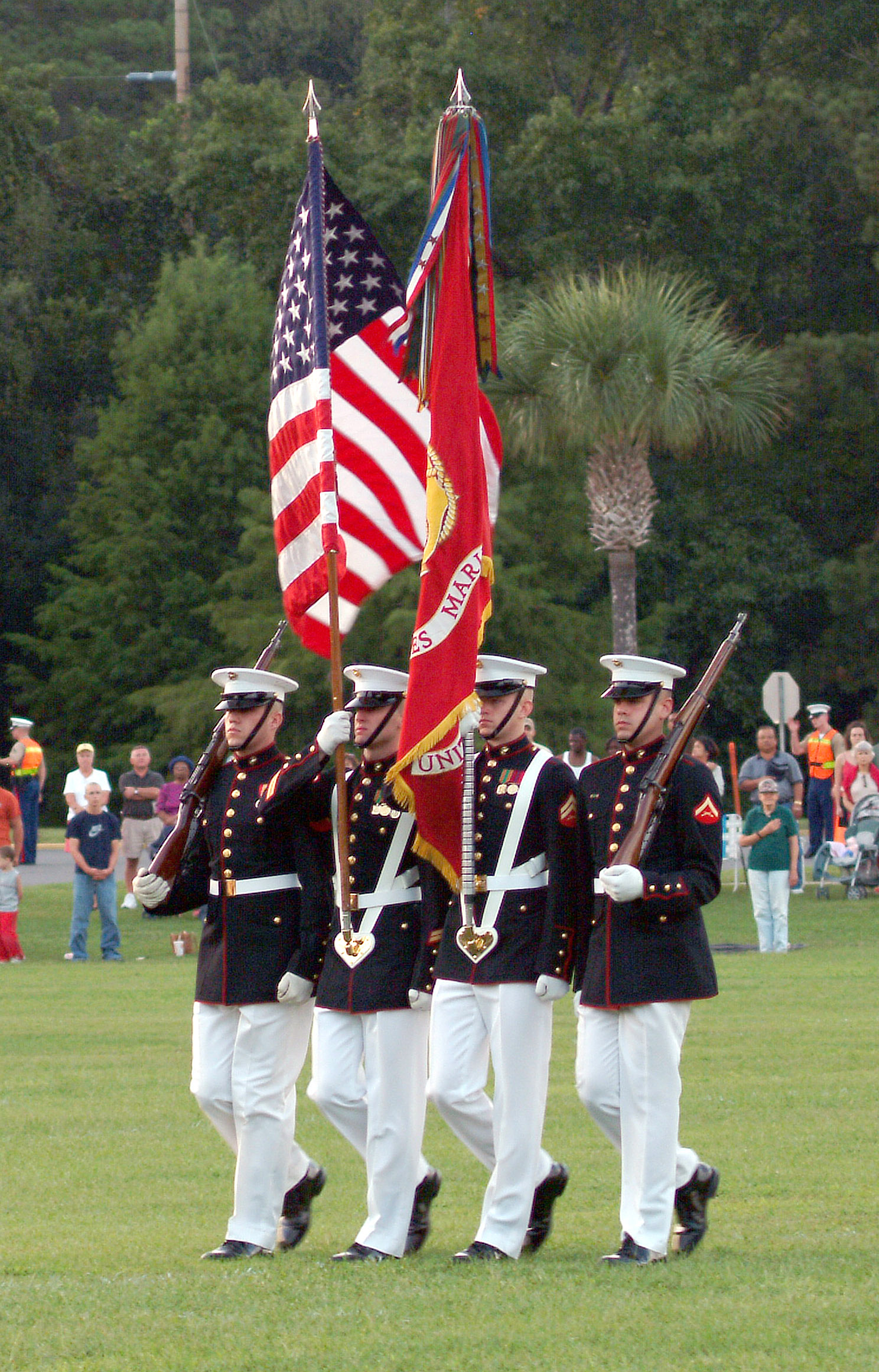 Which colleges offer no-essay scholarships for color guard?